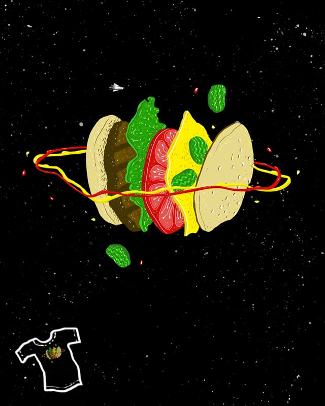 Planetary Discovery 8932: Cheeseburger by jstumpenhorst on Threadless