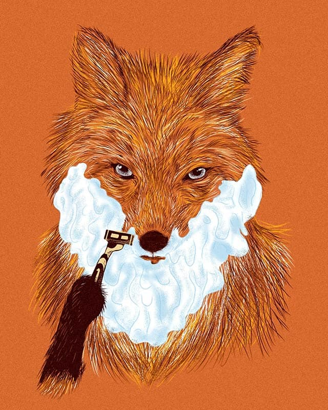 Shaving Fox by kooky love on Threadless