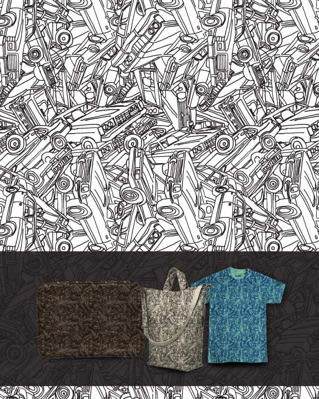 Vintage Cars Collided by murraymullet on Threadless