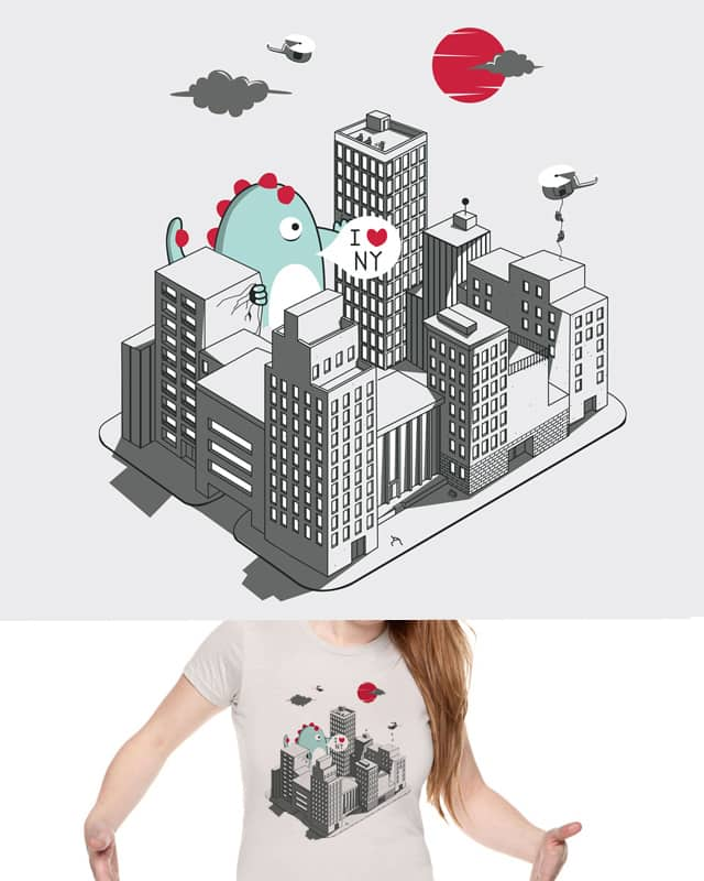 Godzilla is back in town by spazio C on Threadless