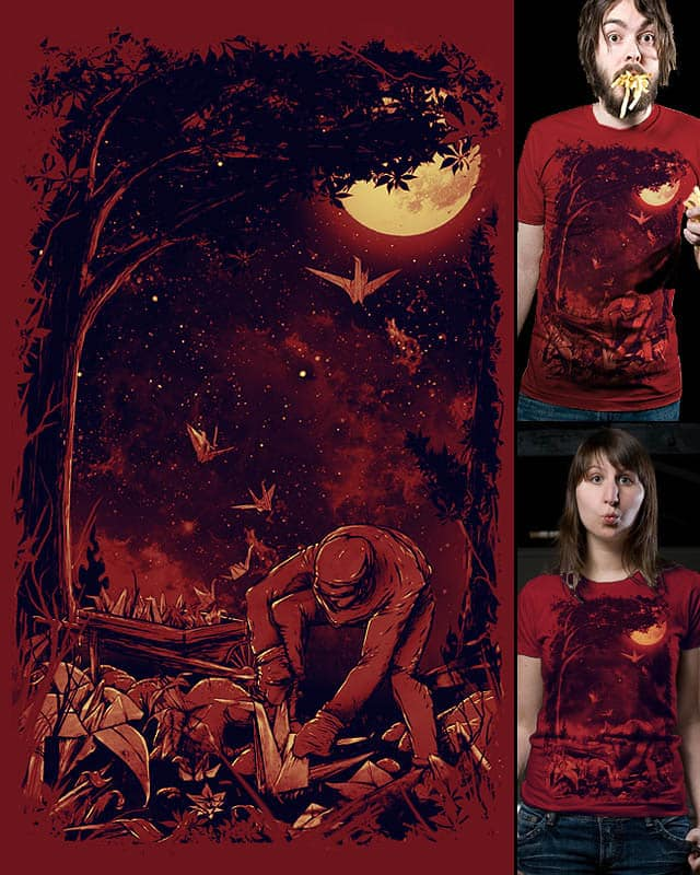 Night at the Origami Garden by nicebleed on Threadless