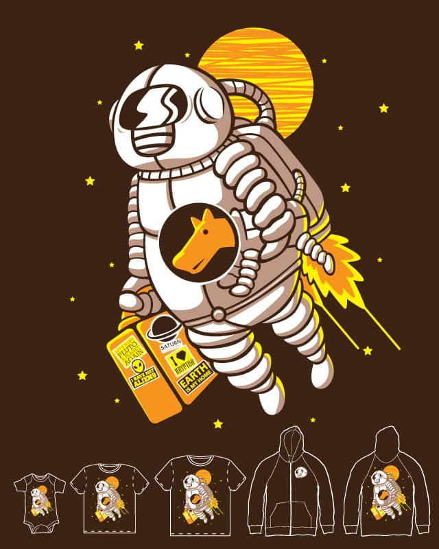 Space traveller by sayahelmi on Threadless