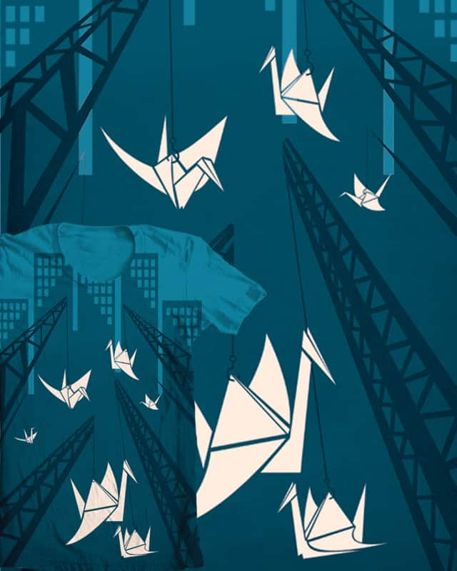 Flying Cranes by podmop on Threadless