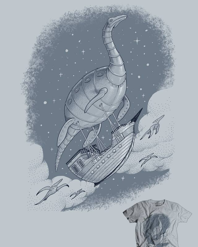 20,000 Leagues Above the Cretaceous by jillustration on Threadless