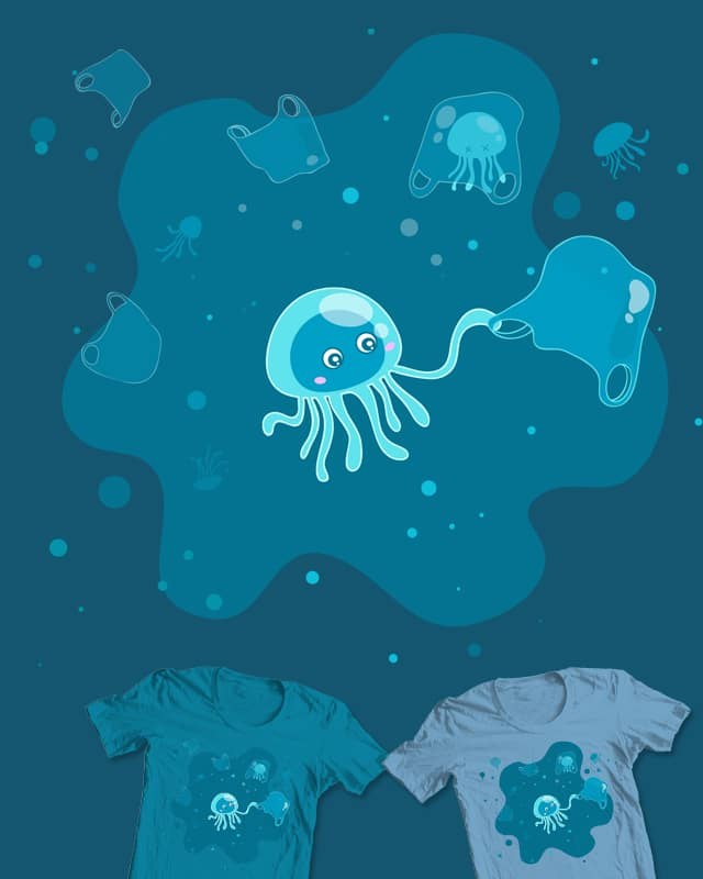 'safe' jellyfish, save ocean by sAmMao on Threadless