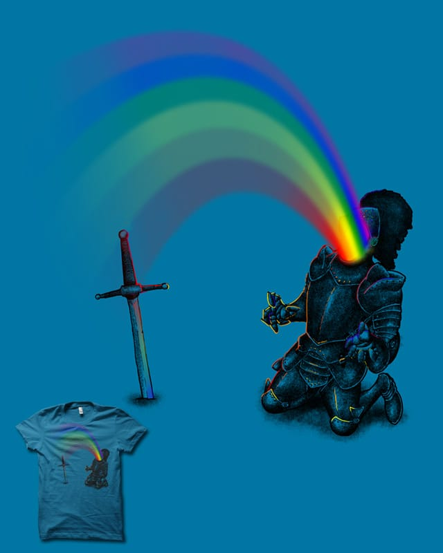Rainbow In the Knight by biotwist on Threadless