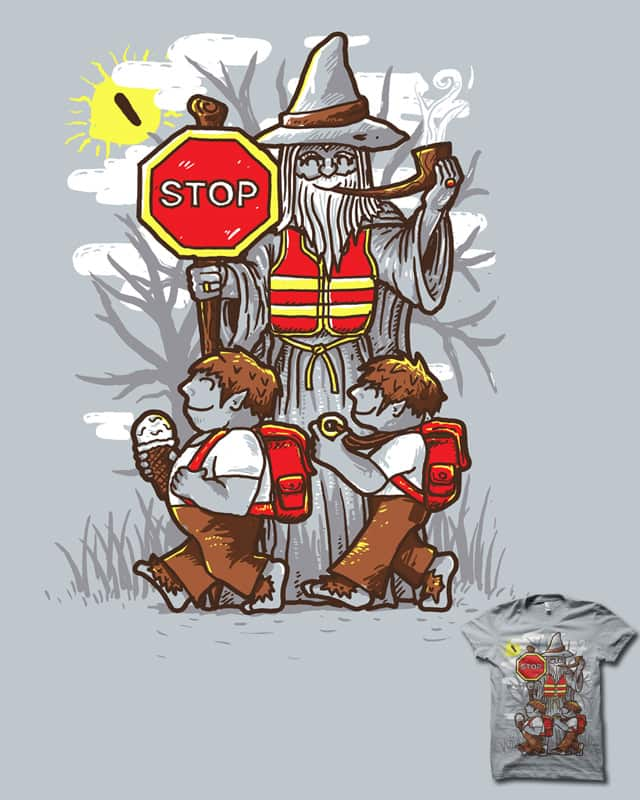 YOU! SHALL! NOT! CROSS! by biotwist on Threadless