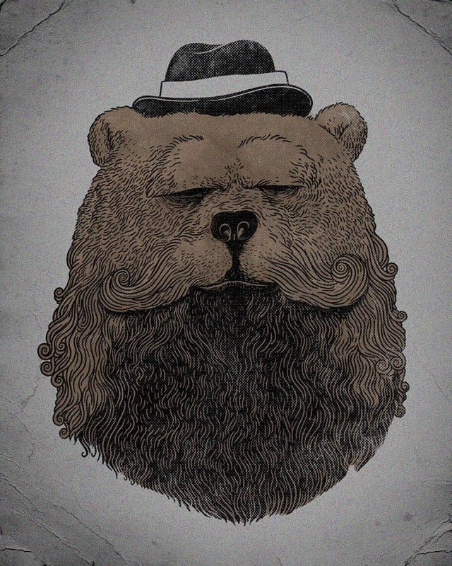 Grizzly Beard by alexmdc on Threadless