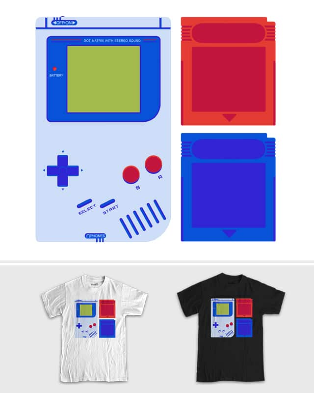 red and Blue by BestDinosaur on Threadless