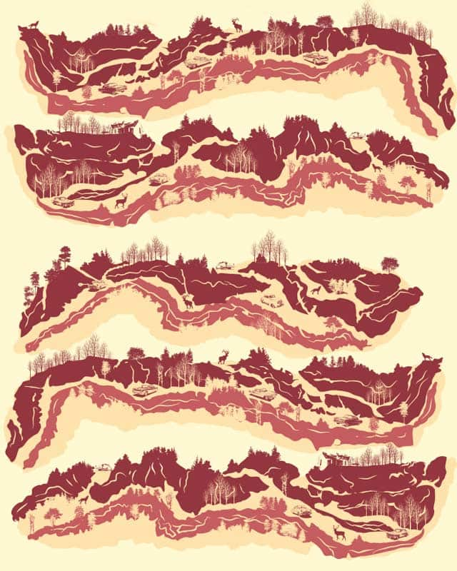 Bacon Hills Road by kooky love on Threadless