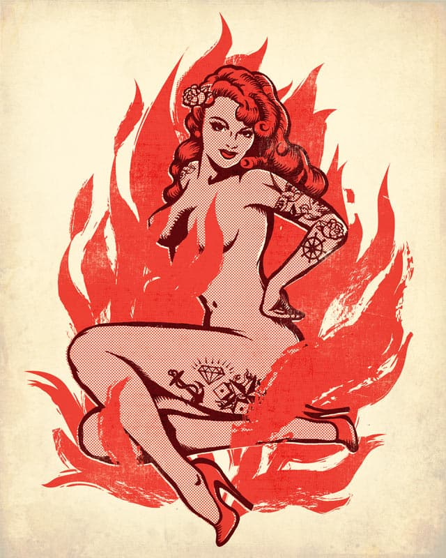 Naked Flame by blue sparrow on Threadless