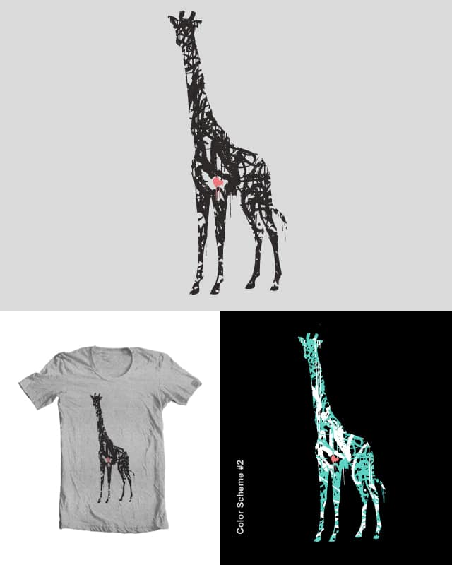Giraffiti by brooksbrackett on Threadless
