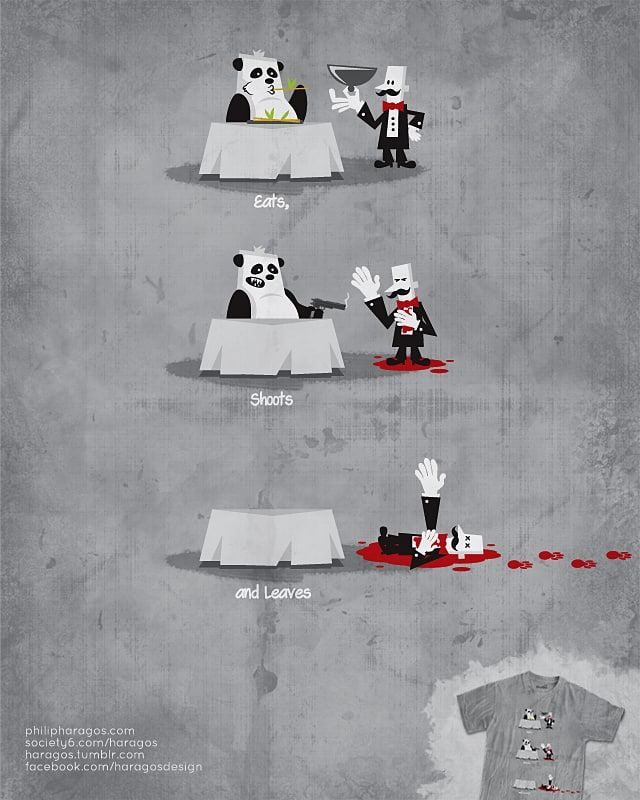 Eating Habits of the Panda by Haragos on Threadless