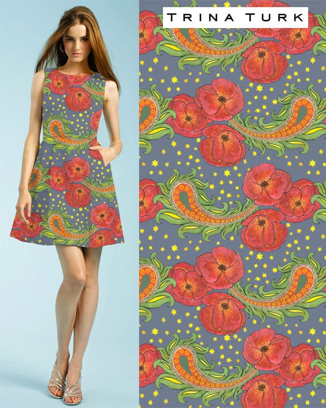Paisley & Poppies by pyr4lis on Threadless