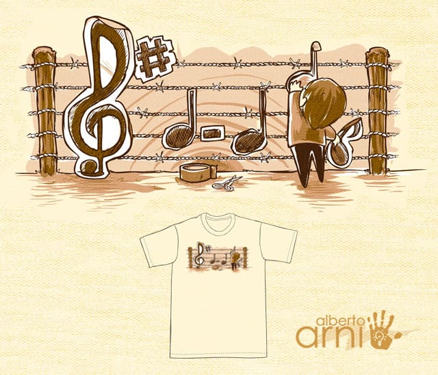 Stop Barriers, Make Music by albertoarni on Threadless