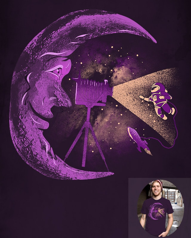 Peek at the moon by shesmatilda on Threadless