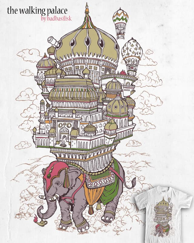 the walking palace by badbasilisk on Threadless