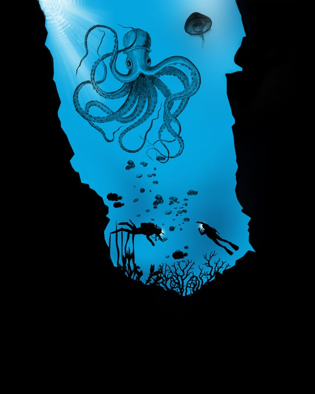 The prey of the giant squid by bandy on Threadless