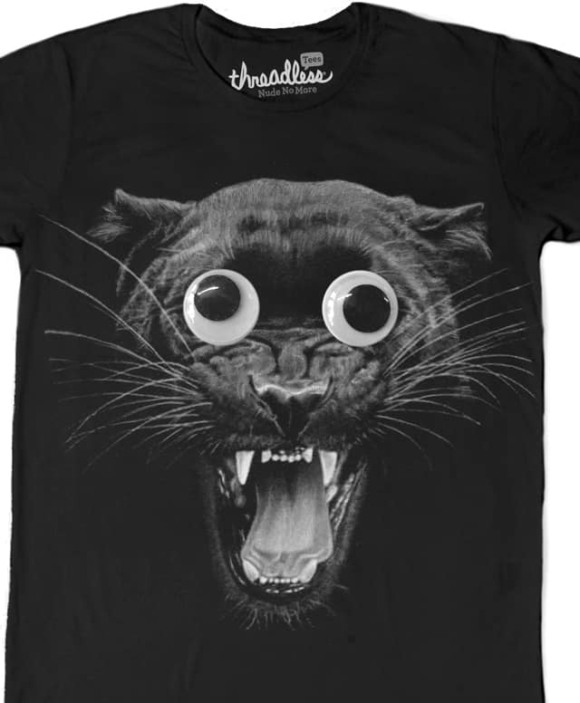 Google eyed panther by CURLYCREATIVE on Threadless