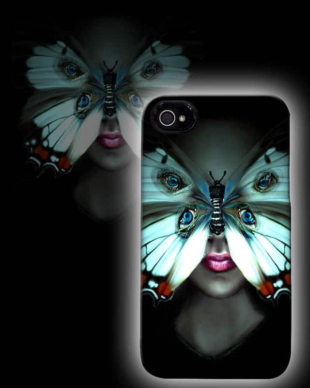 Iphone-Butterfly Eyes by shaddx on Threadless