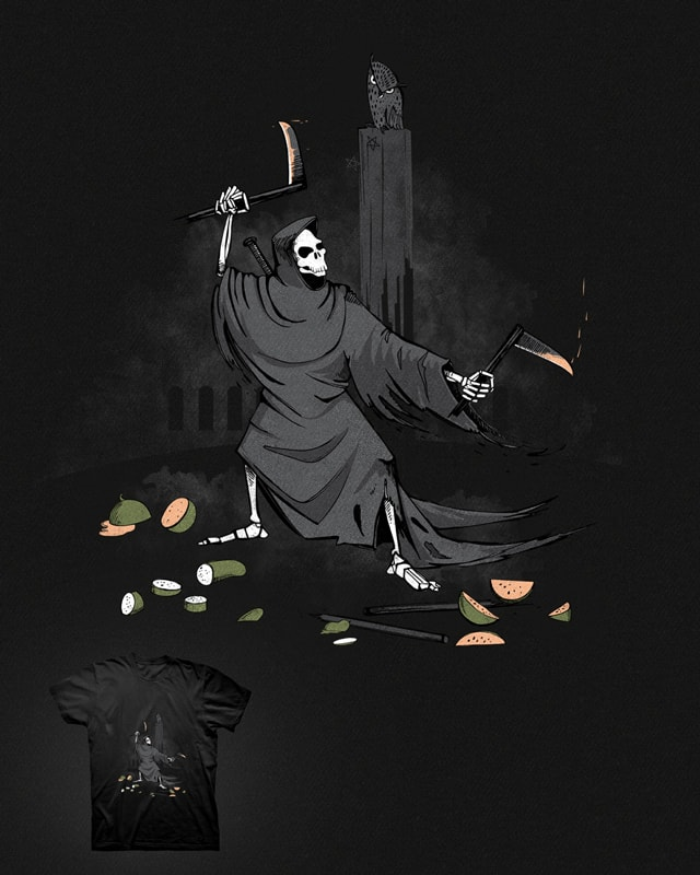 Grim reaper practicing @ home by mr.tooot on Threadless