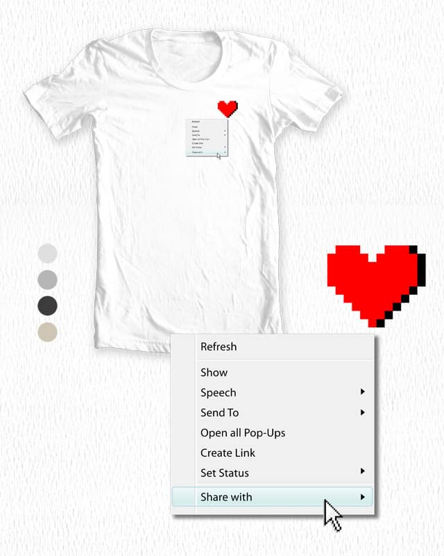 Right Click your Heart by monkeypim on Threadless