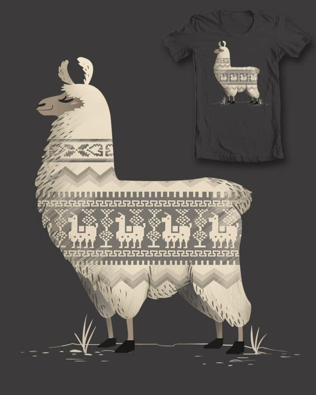 Llamas make the best sweaters by FernandaFrick on Threadless