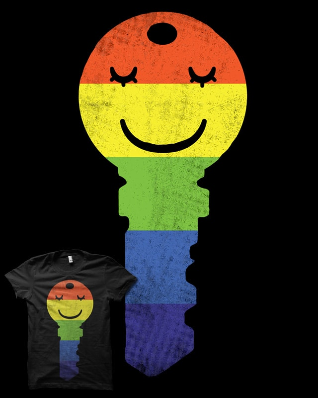 The Key To Happiness by biotwist on Threadless