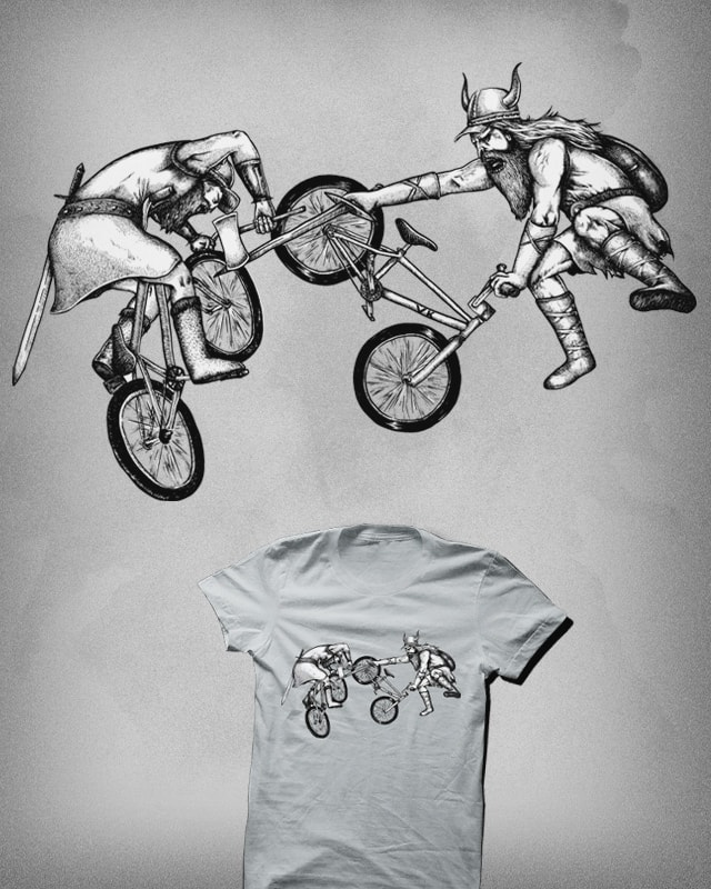 Biking Fight by Raulio on Threadless