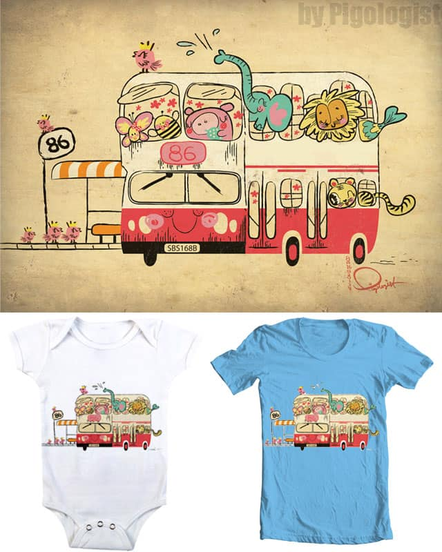 Our Childhood Bus by Pigologist on Threadless