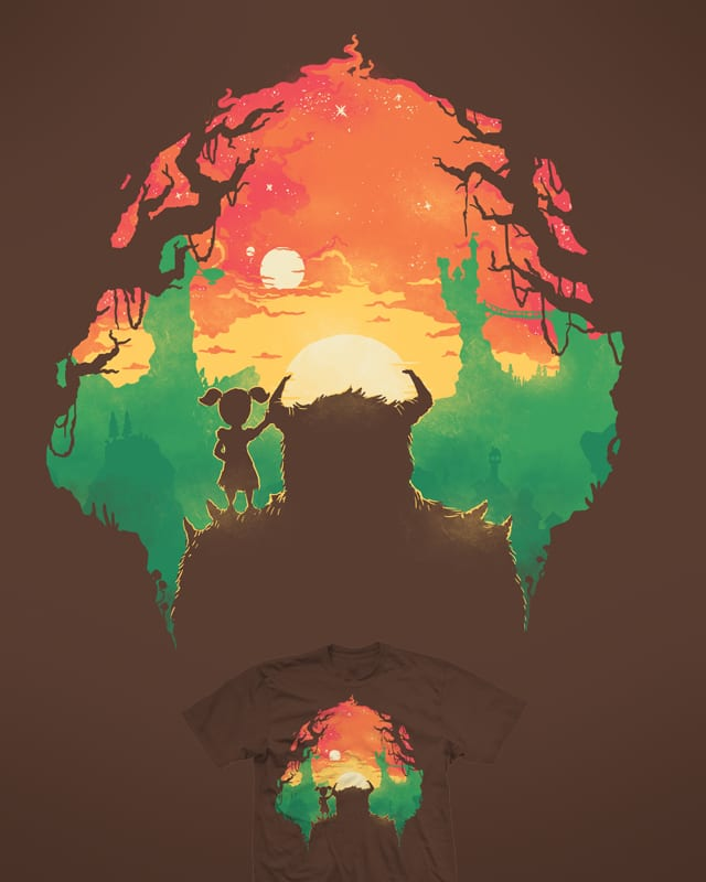 Sunset with a friend by Demented on Threadless