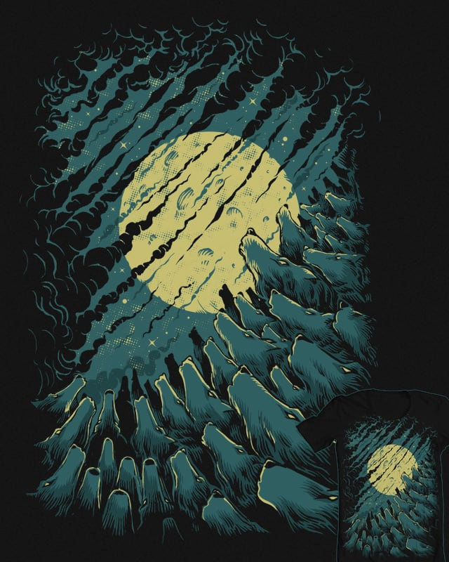 333 Wolves and Moon by RicoMambo on Threadless