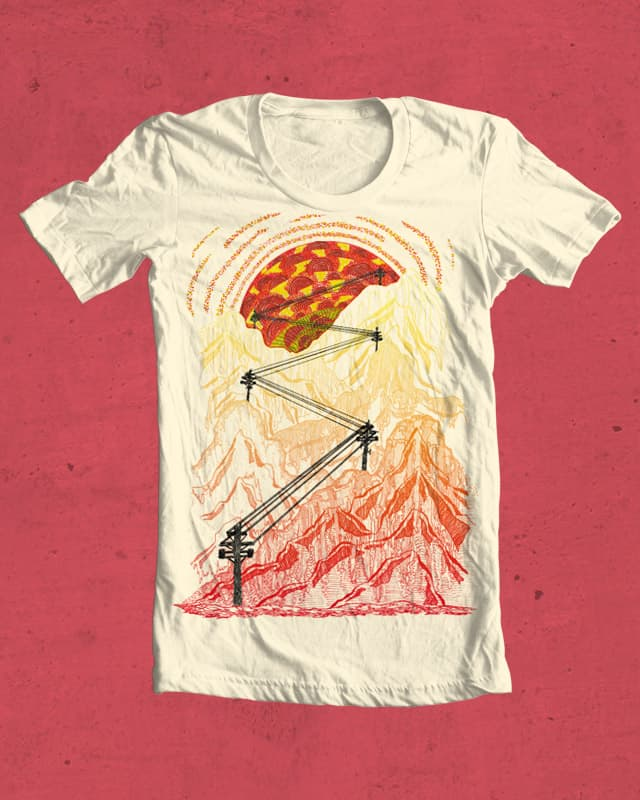 Sunset And Powerlines by arkanghel on Threadless