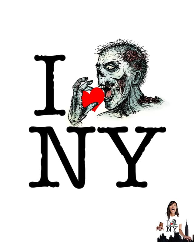 I Zombie Apocalypse New York by sirdiddymus on Threadless
