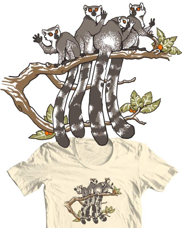 Five Lemurs by silverhare on Threadless