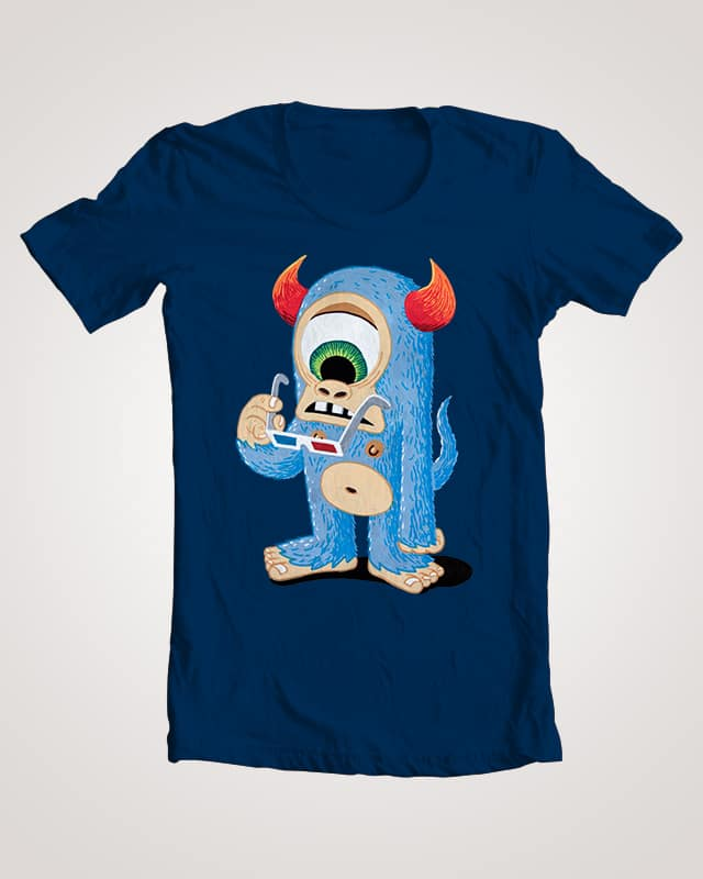 Cyclops with 3D glasses by tor.fruergaard on Threadless