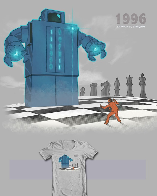 Kasparov Vs Deep Blue 1996 by robbielee on Threadless