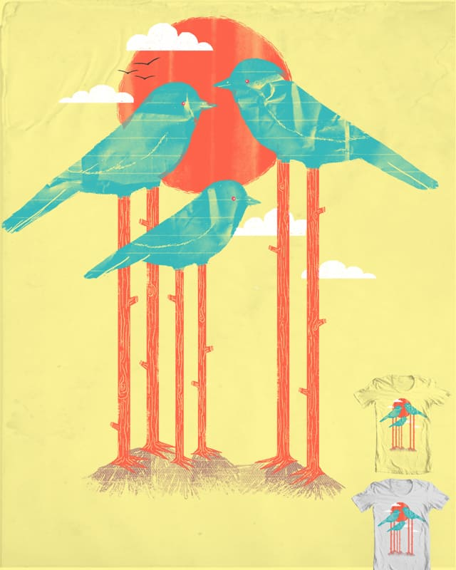 Land of the Paper Bird Trees by CazKing on Threadless