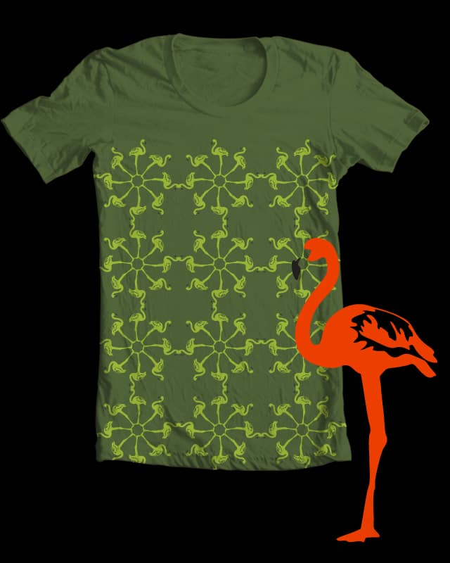 Flamingo pattern by anairamariana on Threadless