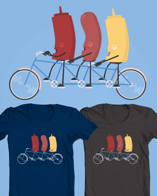 Bicycle Built for Three by redfalcon on Threadless
