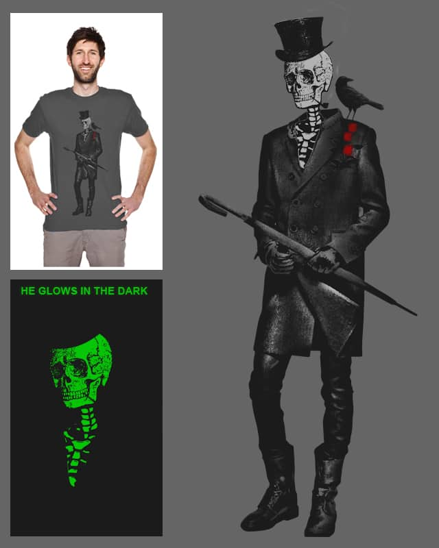 Gentleman Skeleton and Crow by francis19 on Threadless
