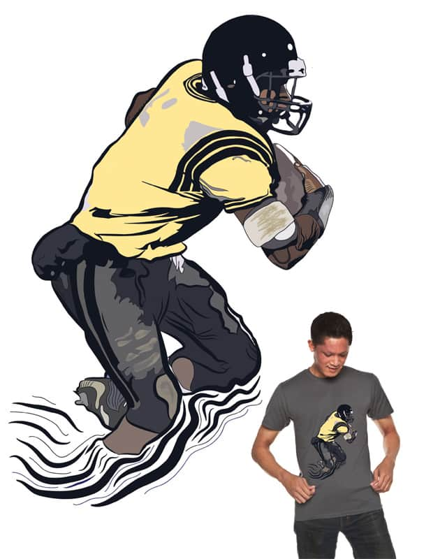 Running Back Extraordinaire by djjustintime10 on Threadless