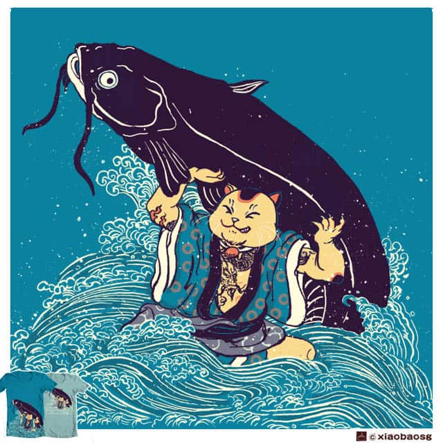 Cat Vs Cat(Fish) by xiaobaosg on Threadless
