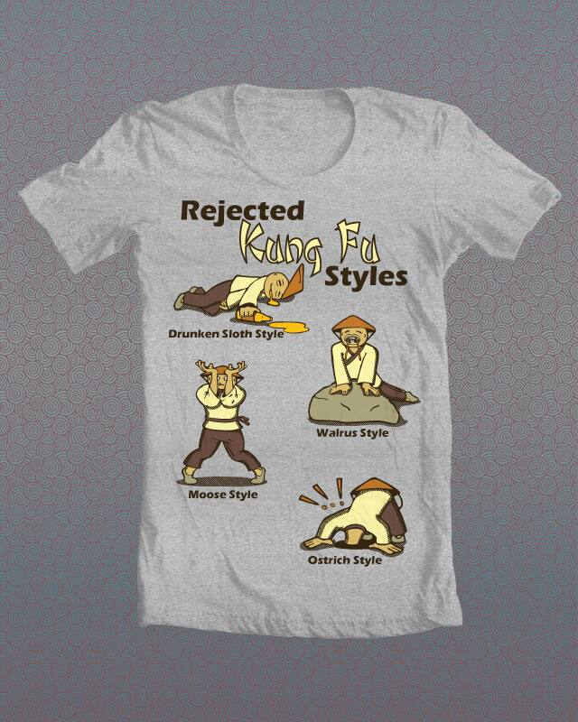 Kung Fu Rejects by SilvaArts on Threadless