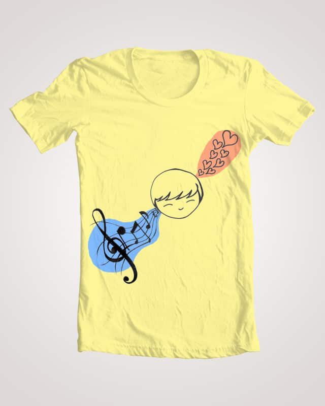 Music is Love by luomin on Threadless