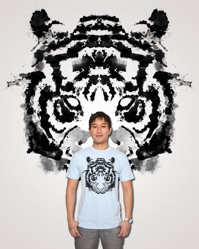 Rorschach Tiger by .t3z on Threadless