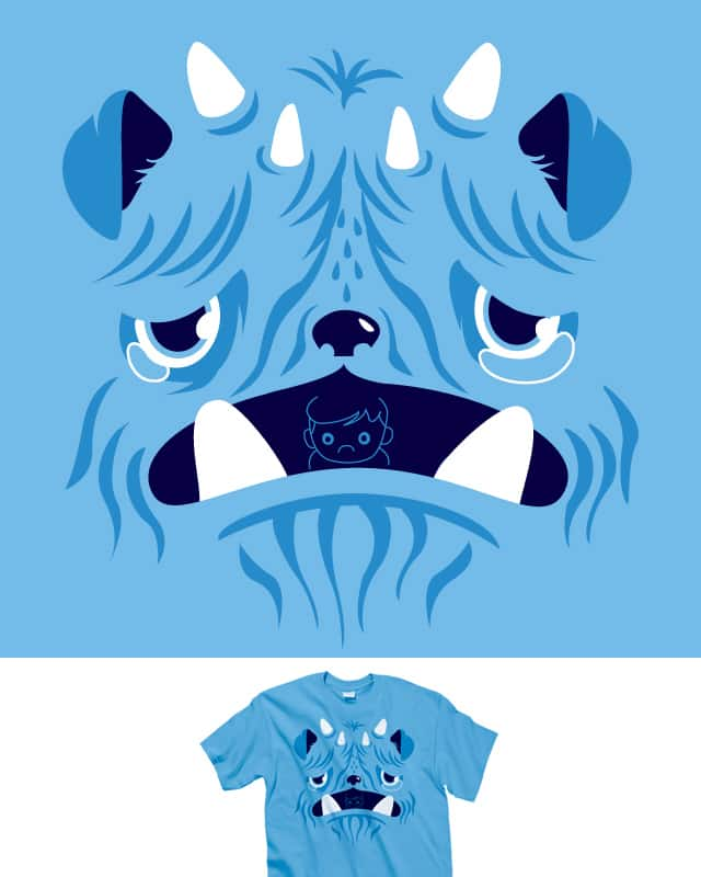 The Bluest Monster Ever :( by ivejustquitsmoking on Threadless