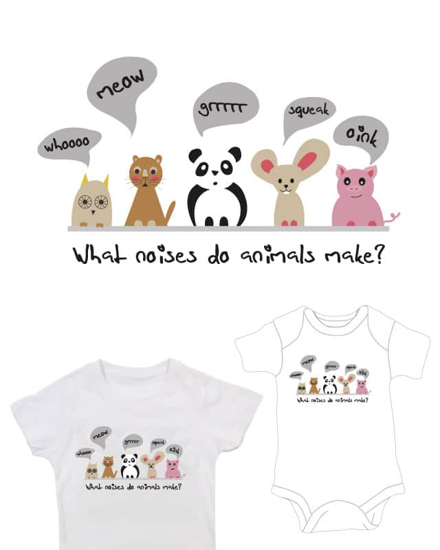 What noises do animals make? by Petra Blahova on Threadless