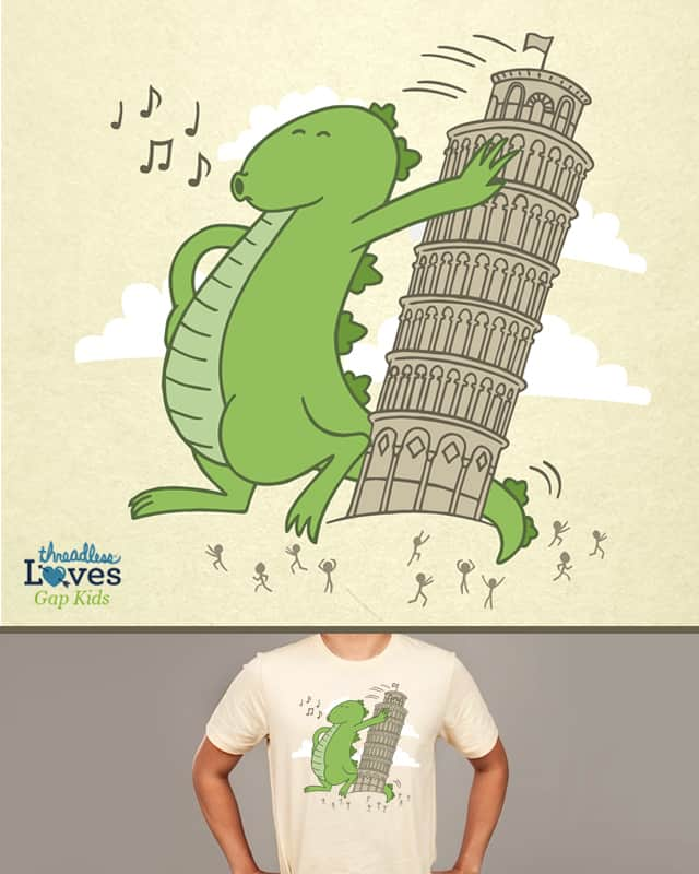 Why the tower leans by CHUCKY SA on Threadless