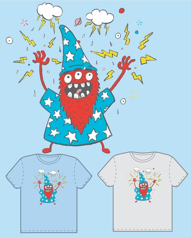 Wizard Monster by ghostmartian on Threadless